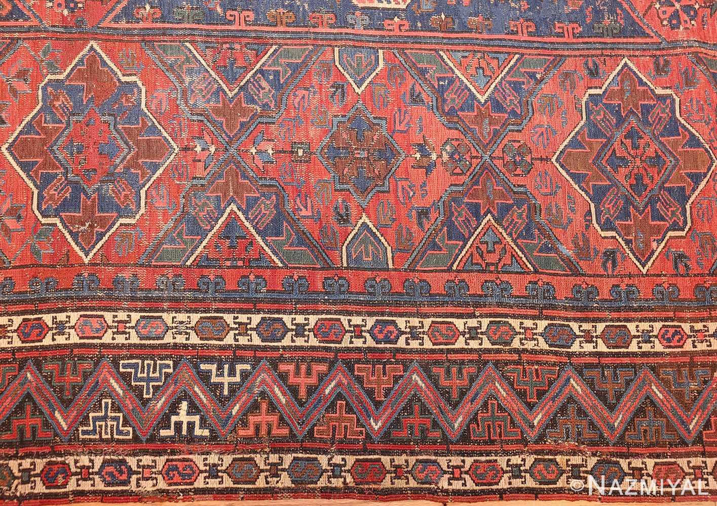 tribal antique caucasian soumak rug 50365 border Nazmiyal