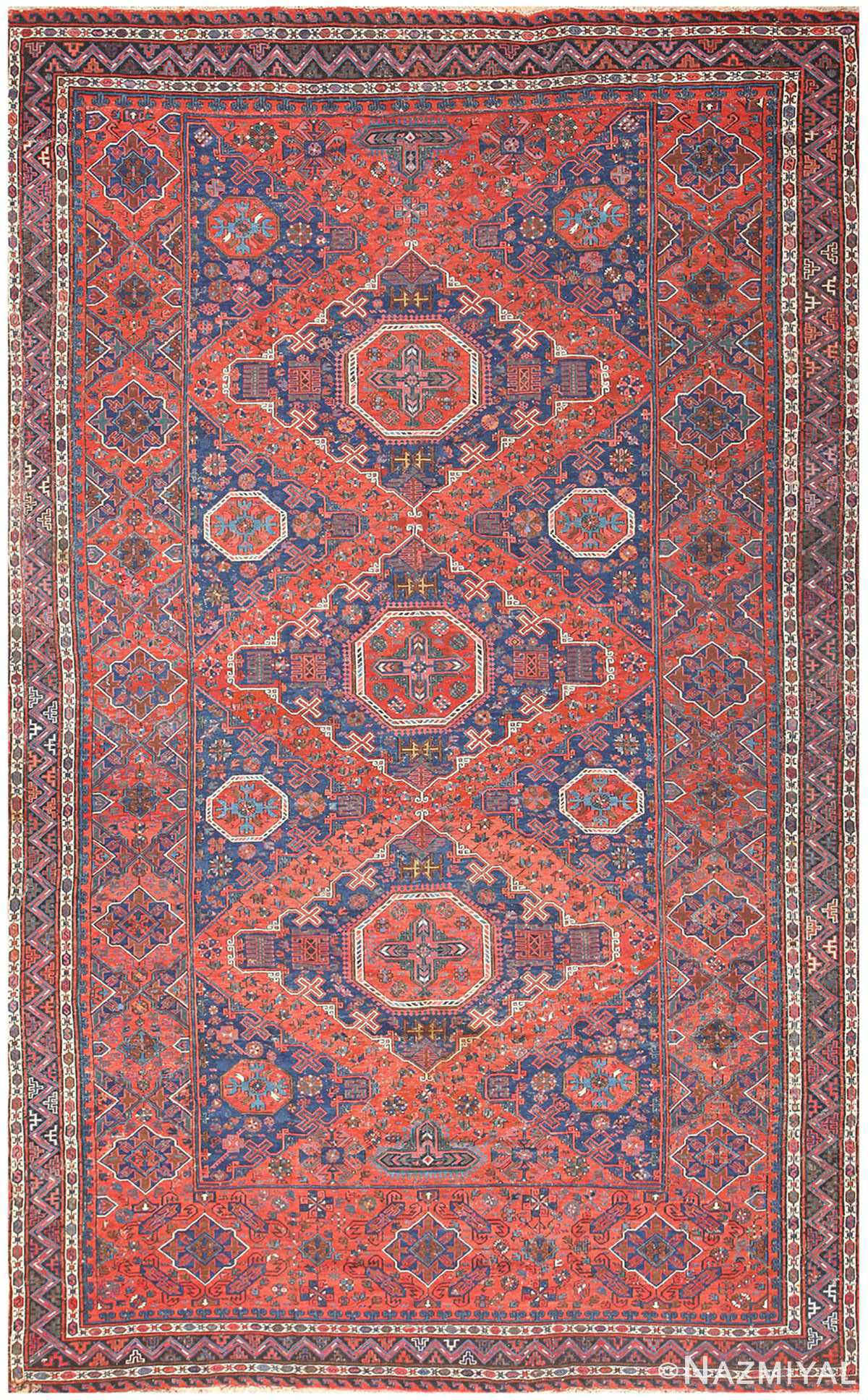 Tribal Antique Caucasian Soumak Rug 50365 Nazmiyal