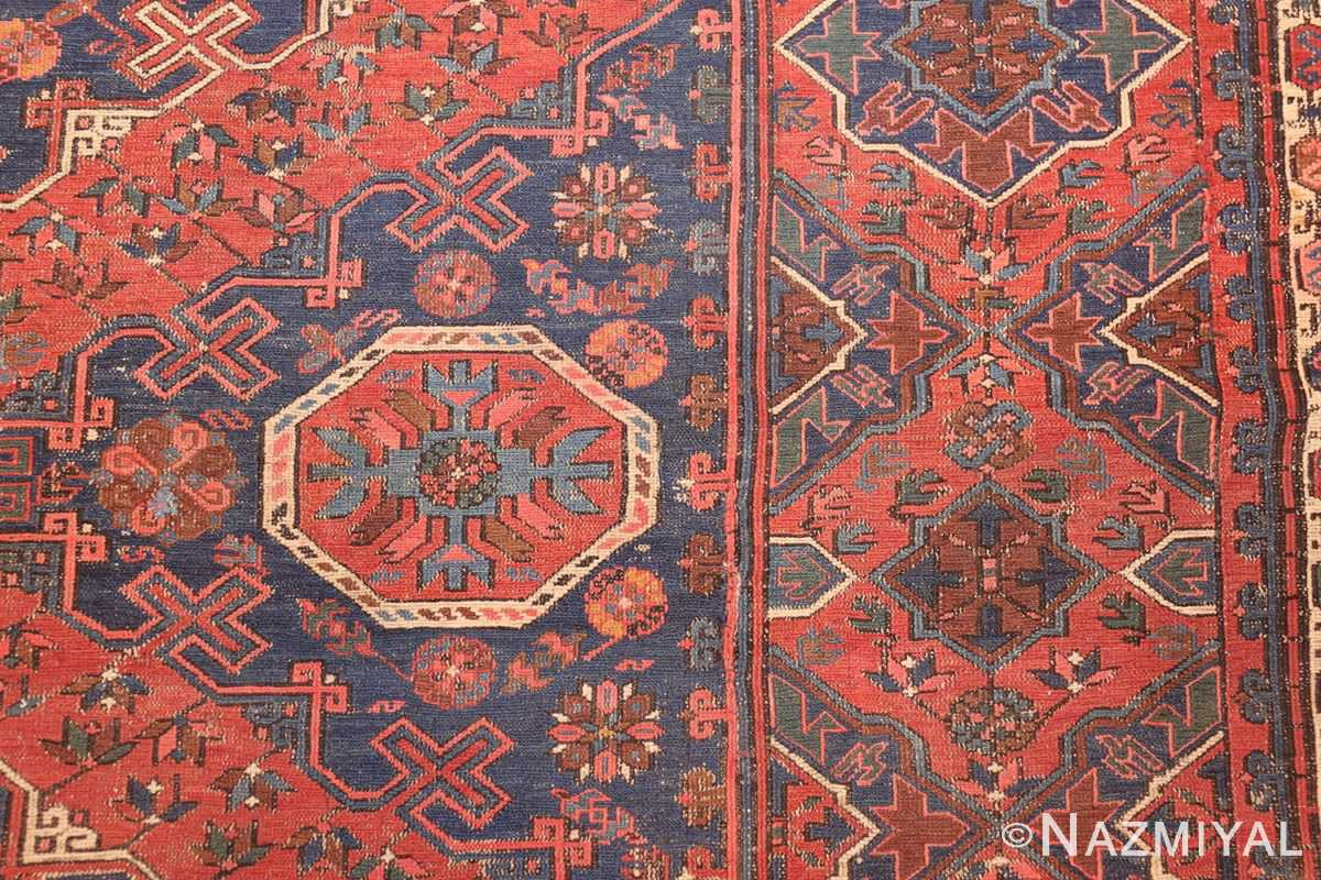 tribal antique caucasian soumak rug 50365 detailed Nazmiyal