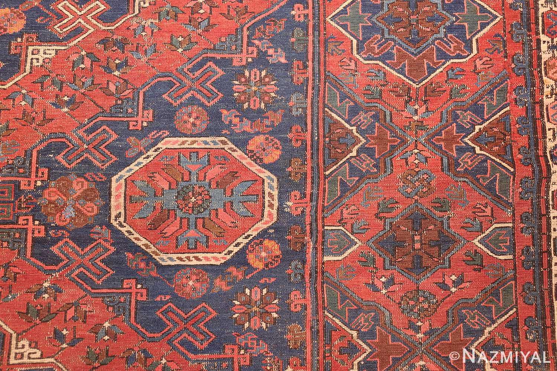 tribal antique caucasian soumak rug 50365 detailed Nazmiyal