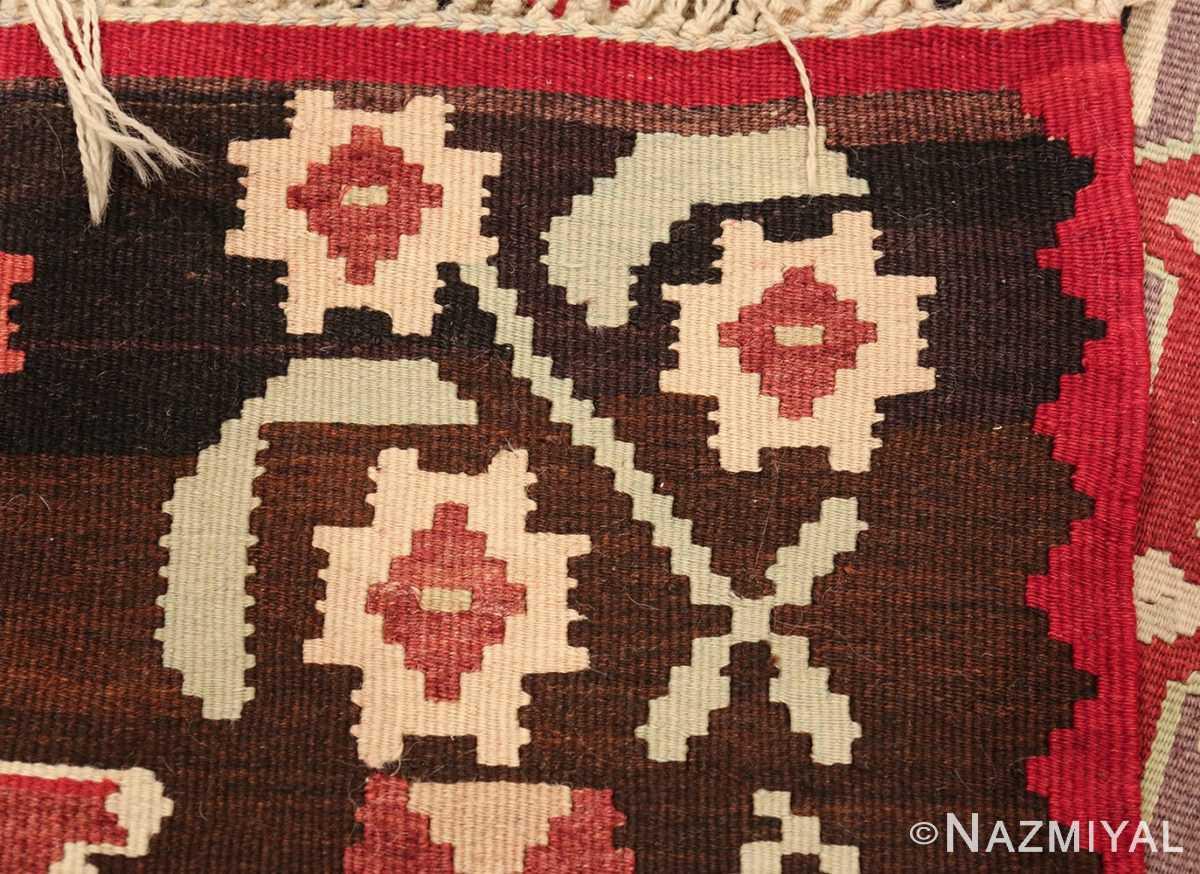 vintage red background turkish kilim rug 50381 weave Nazmiyal