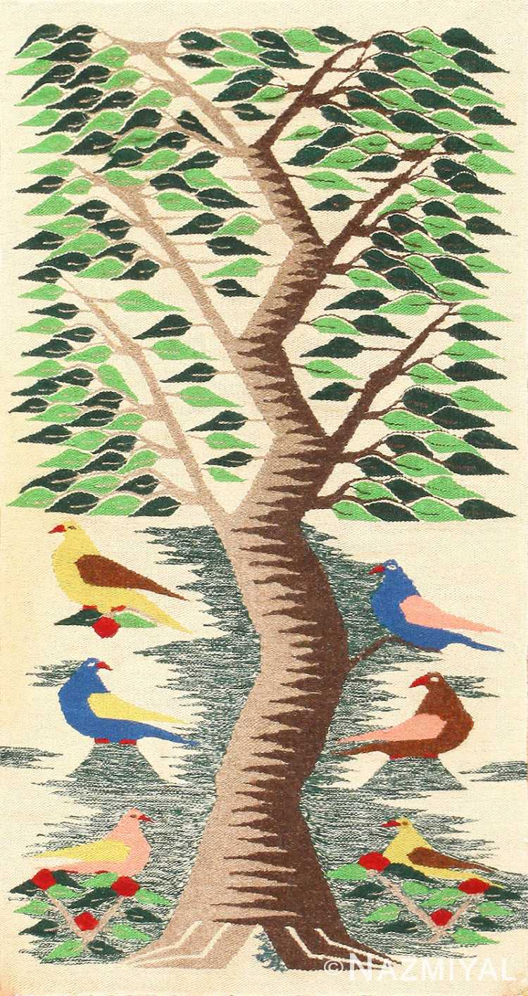 Vintage Swedish Scandinavian Tapestry Textile Art 48607 Nazmiyal