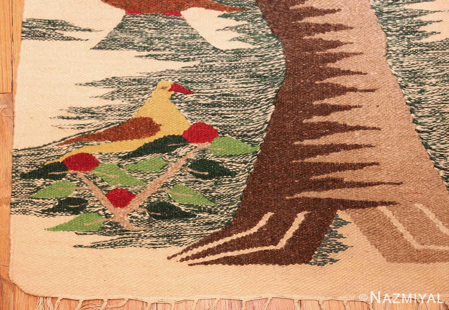 vintage swedish scandinavian tapestry textile art 48607 nest Nazmiyal