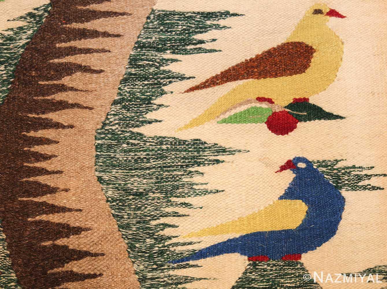 vintage swedish scandinavian tapestry textile art 48607 yellow Nazmiyal