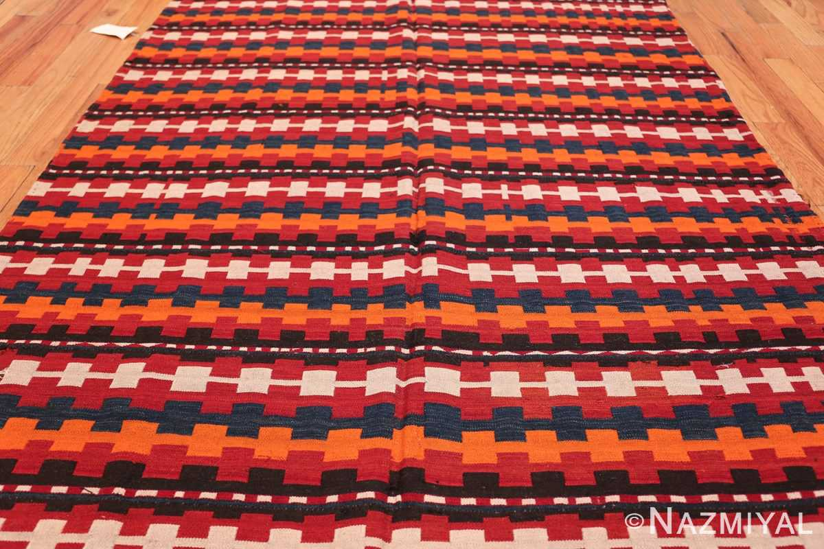 Vintage Tribal Turkish Kilim Rug 50382 Field Wide Shot Nazmiyal