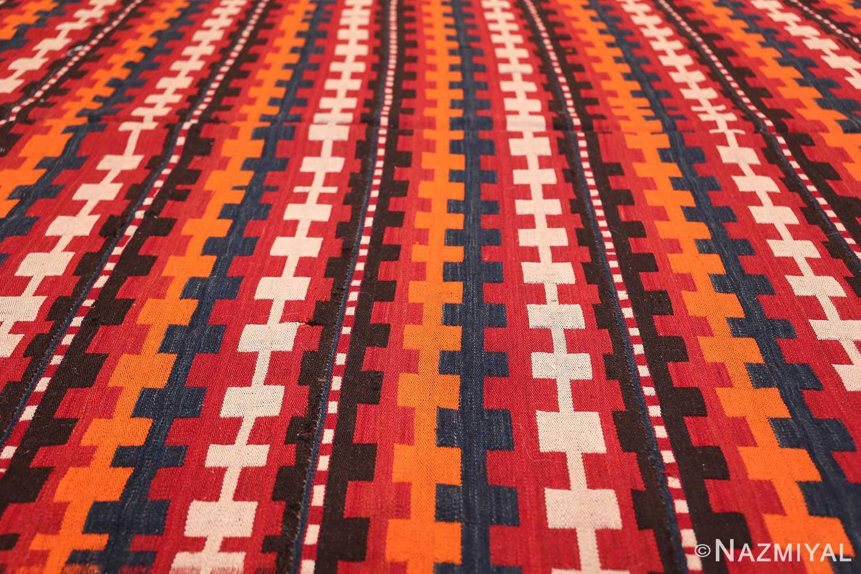 Vintage Tribal Turkish Kilim Rug 50382 Horizontal Lines Nazmiyal