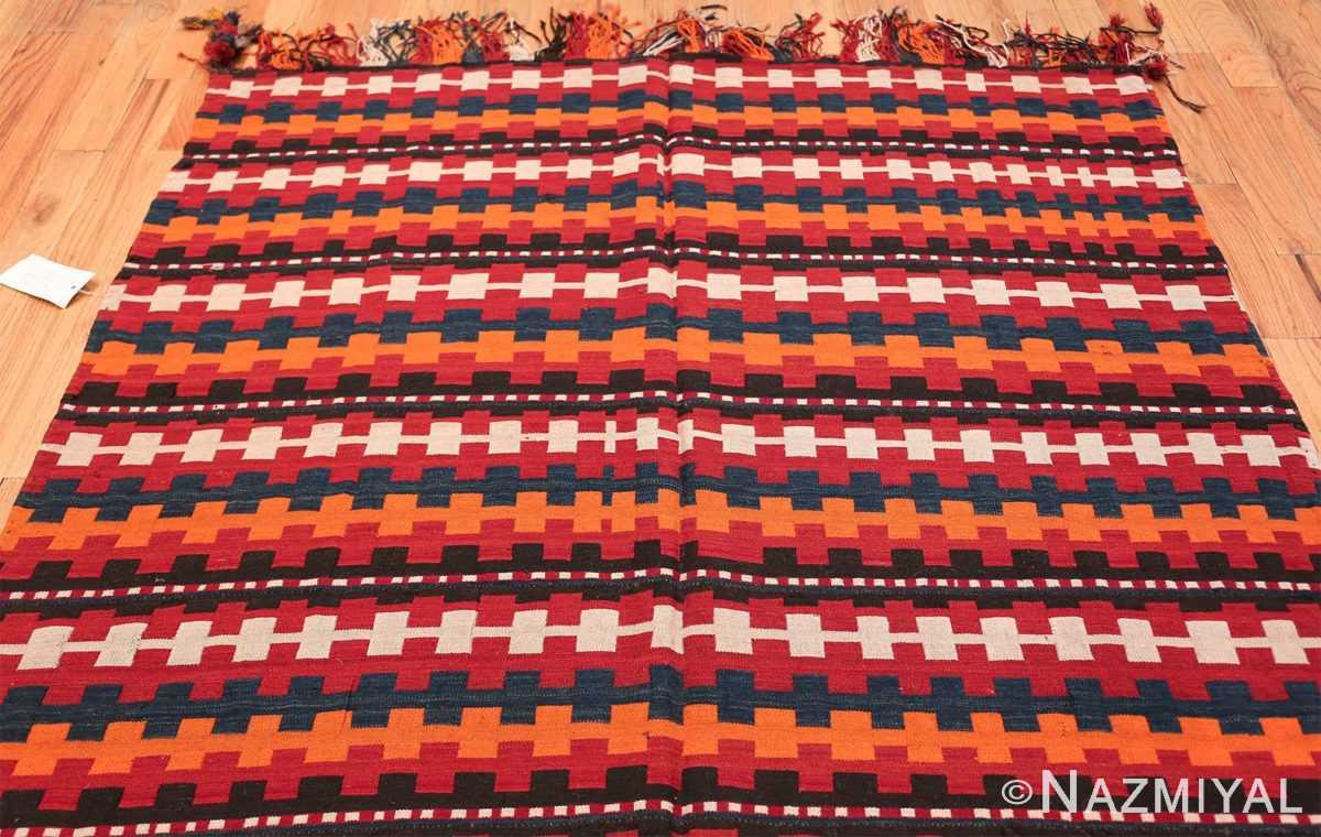 Vintage Tribal Turkish Kilim Rug 50382 Top Design Nazmiyal