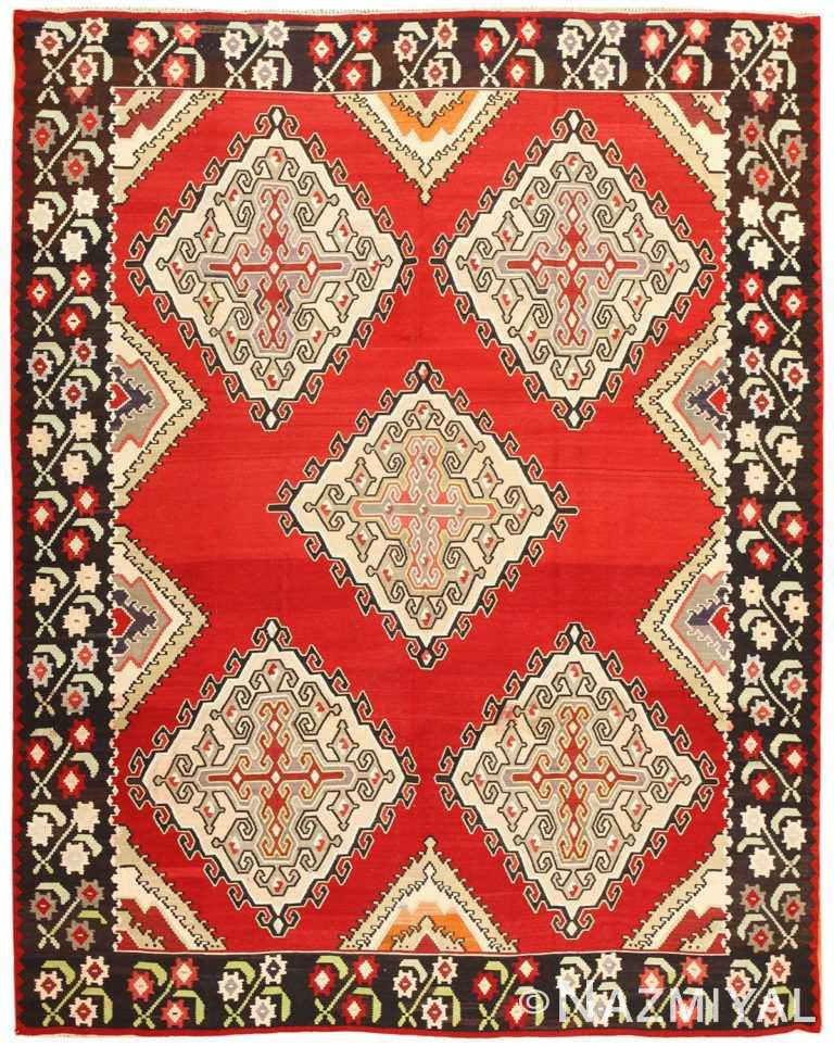 Vintage Turkish Kilim Rug 50381 Detail/Large View