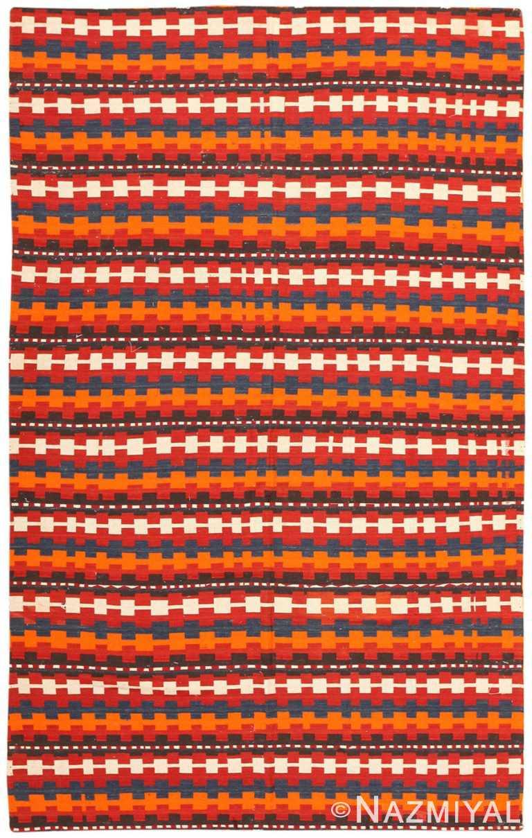 Vintage Turkish Kilim Rug 50382 Detail/Large View