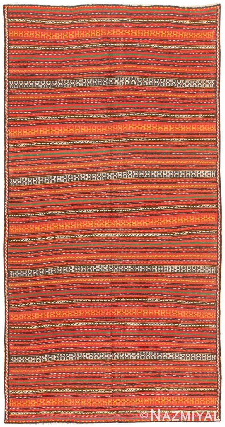 Vintage Turkish Kilim Rug 50383 Detail/Large View