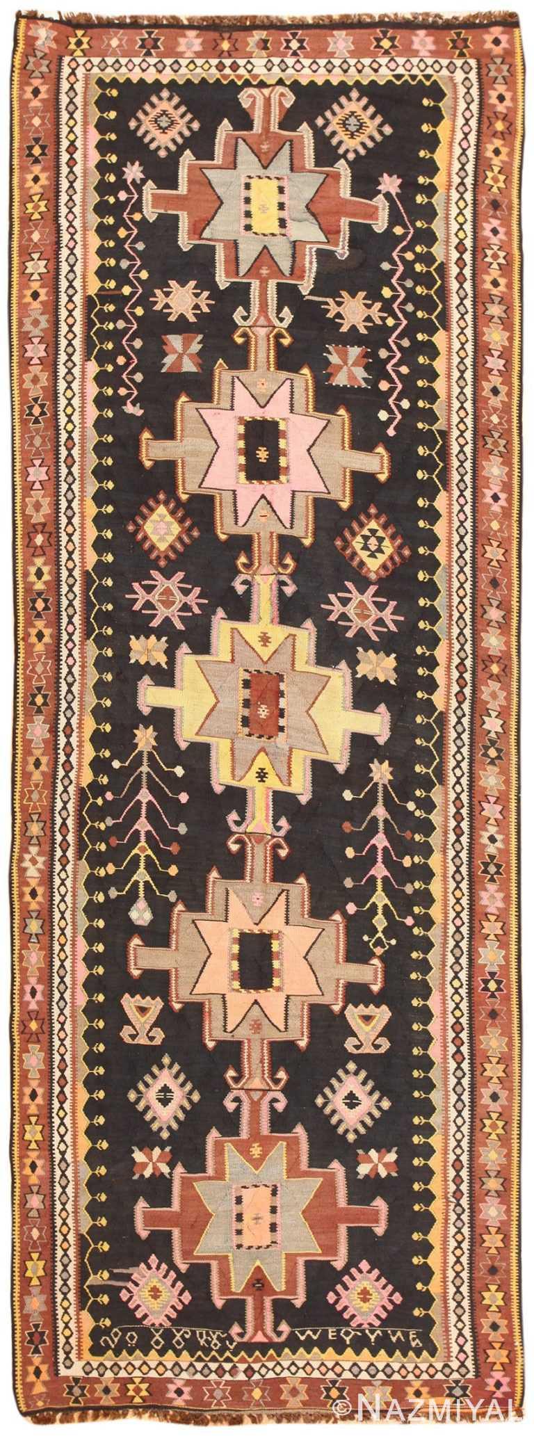 Vintage Turkish Kilim Rug 50422 Detail/Large View