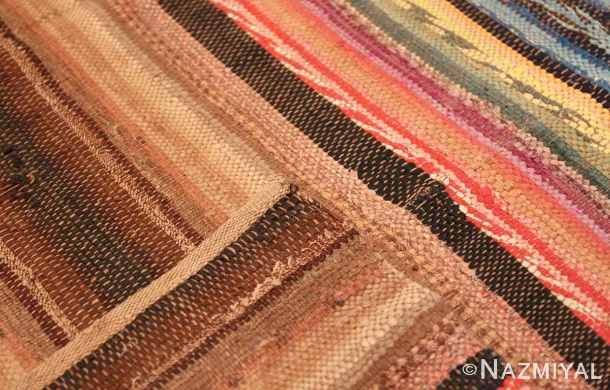 Weave Antique America rag rug 48669 by Nazmiyal