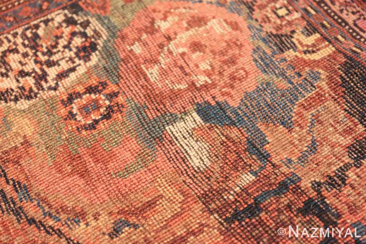 Weave detail Antique Golfarang Persian Bidjar runner rug 48630 by Nazmiyal