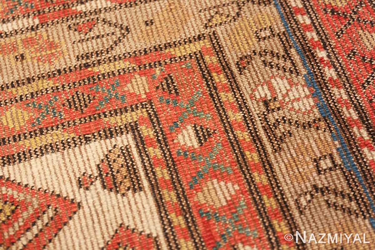 Weave detail Antique rare Sherab Caucasian design rug 50424 by Nazmiyal