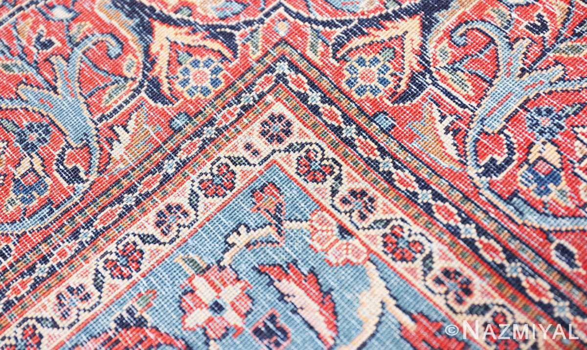 Weave detail Classical Antique Persian Kashan rug 50413 by Nazmiyal