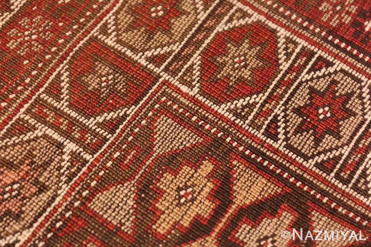 Weave detail Vintage Tribal Turkish rug 50402 by Nazmiyal