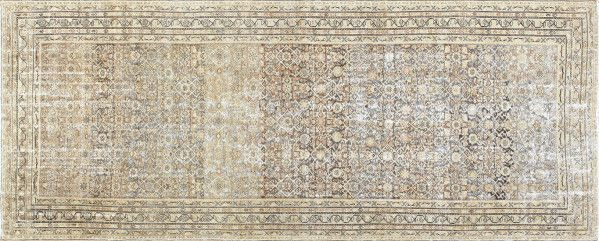 Antique Shabby Chic Persian Malayer Runner Rug by nazmiyal