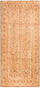 Beige Antique East Turkestan Khotan Rug 50482 Nazmiyal
