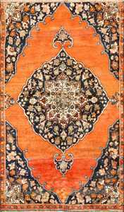 Central Medallion Antique Persian Malayer Rug 50498 Nazmiyal