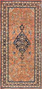 Central Medallion Vintage Persian Sarouk Rug 50489 Nazmiyal