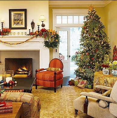 Festive living Room Holiday Decor - Nazmiyal