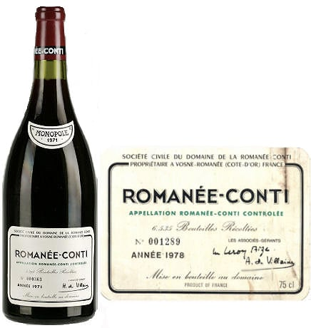 Luxury Christmas Gift Ideas - A Vintage Romanee Conti Wine