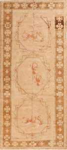 Scatter Size Vintage East Turkestan Khotan Rug 50497 Nazmiyal
