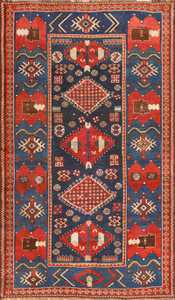 Small Antique Caucasian Kazak Rug 48719 Nazmiyal