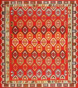 Caucasian Kilim Rug: Antique Kazak Rug 43484 By Nazmiyal