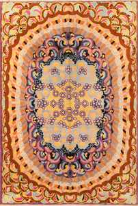 Vintage French Art Deco Rug 50504 Detail/Large View