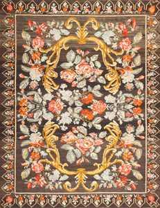 Vintage Turkish Kilim Rug 50517 Detail/Large View