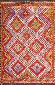 Vintage Turkish Kilim Rug 50534 Detail/Large View