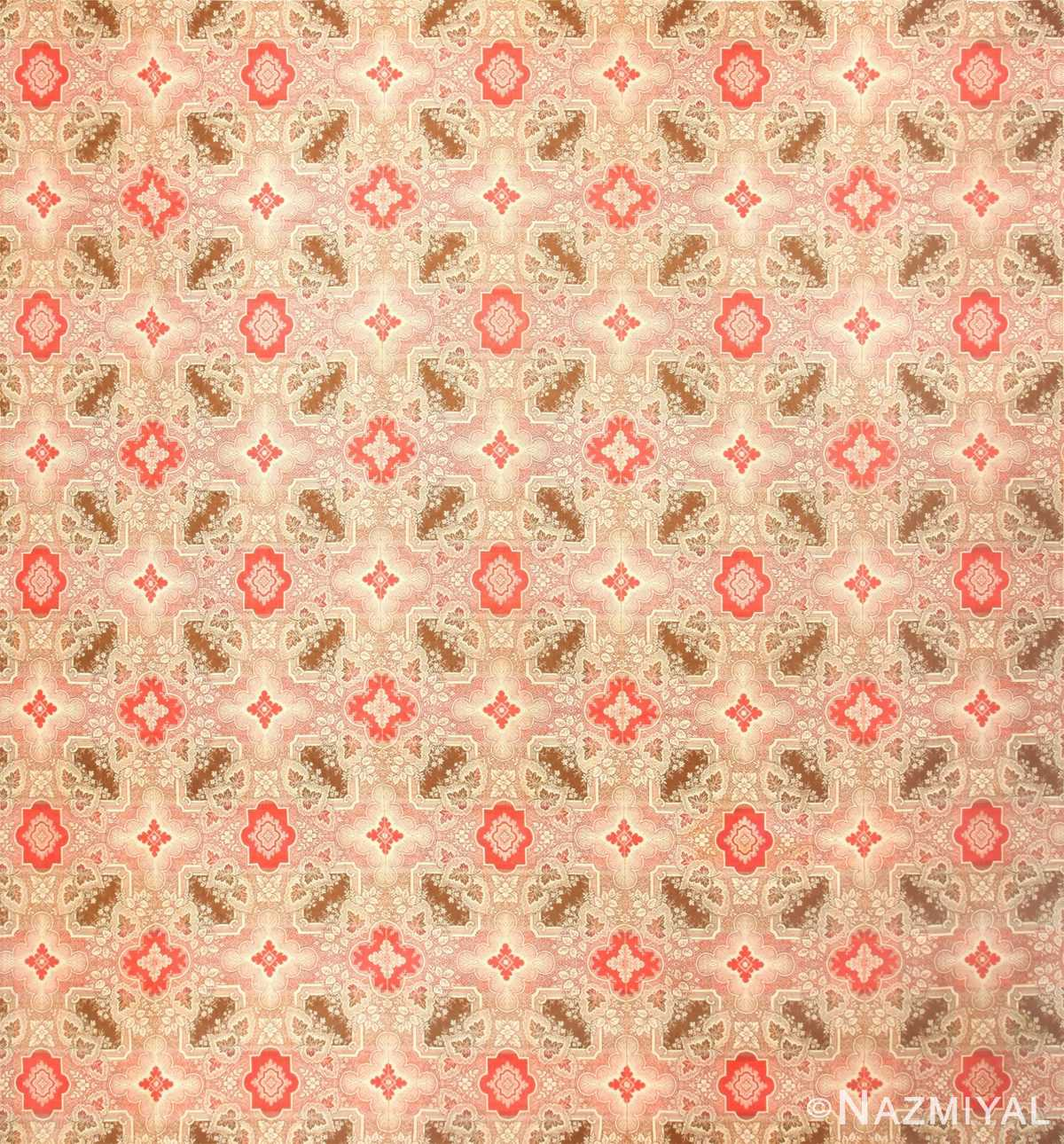 All Over Design Vintage American Ingrain Rug 50460 Nazmiyal