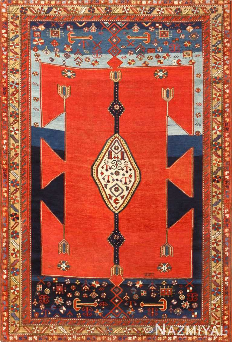 Antique Caucasian Kazak Rug 48623 Detail/Large View