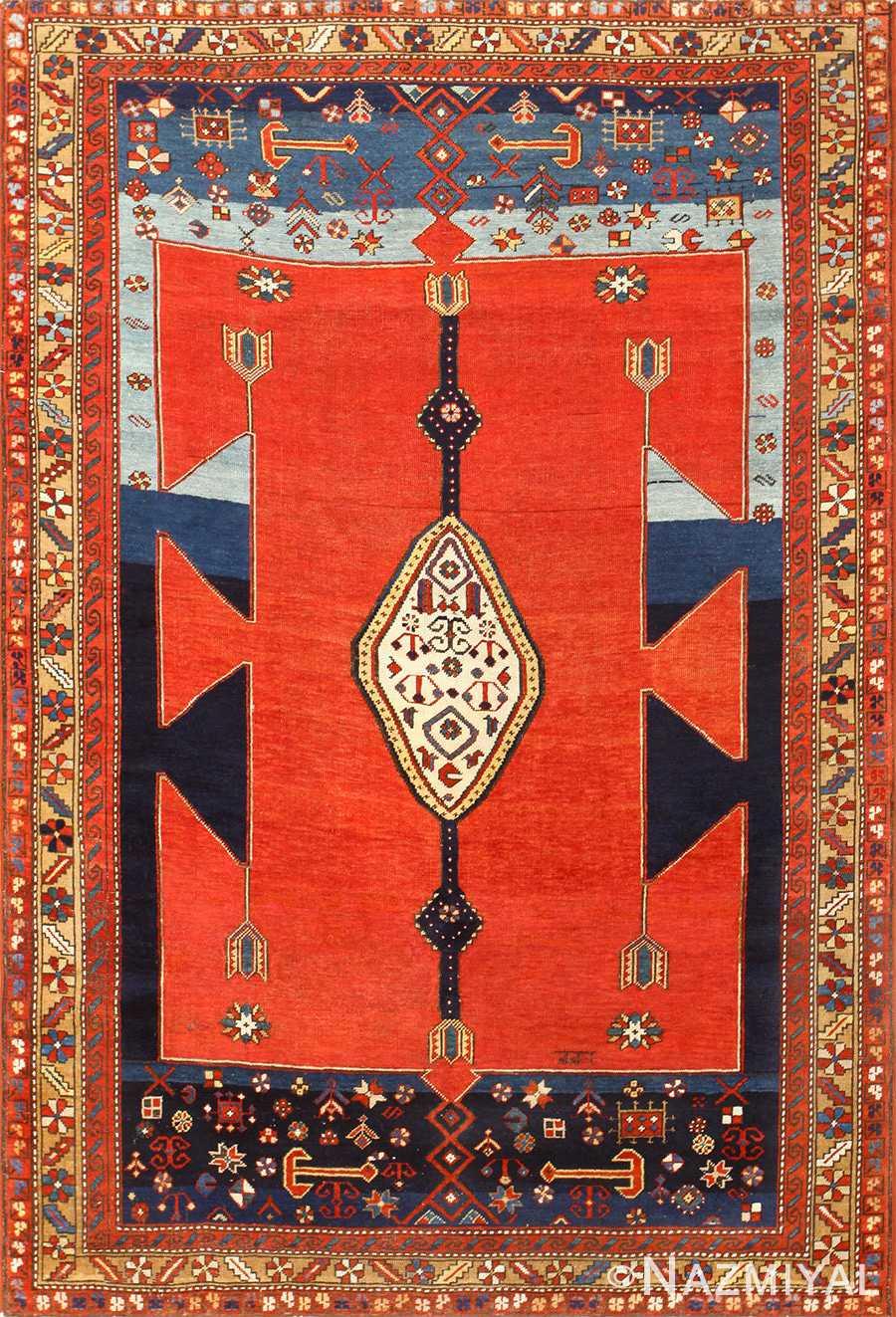 Antique Caucasian Kazak Rug 48623 Detail/Large View