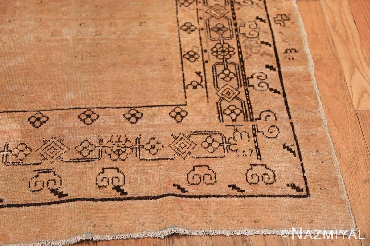Antique East Turkestan Khotan Rug 50495 Side Corner Dark Nazmiyal