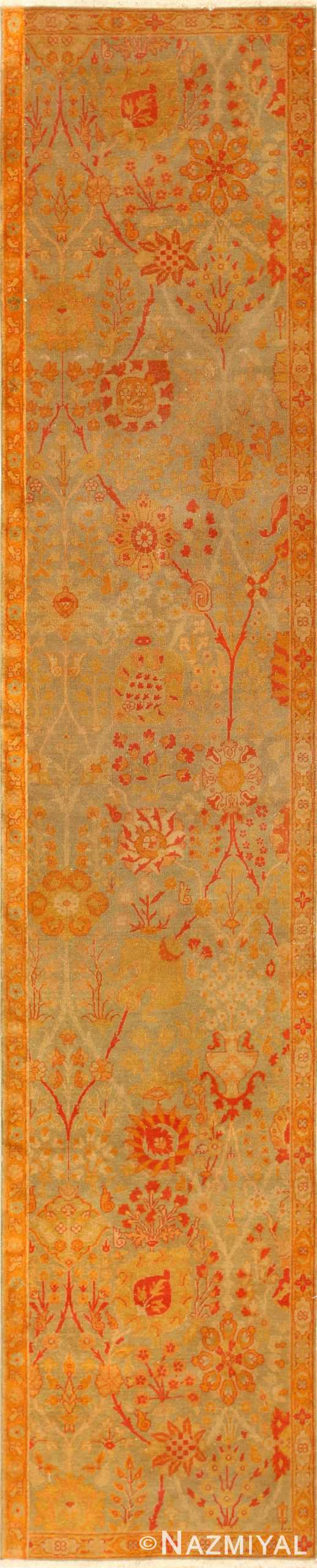 Antique Indian Runner Rug 50496 Detail/Large View