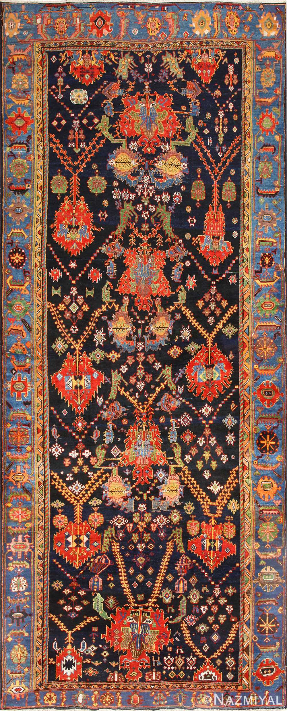 Antique Persian Bakhtiari Runner Rug 48728 Nazmiyal
