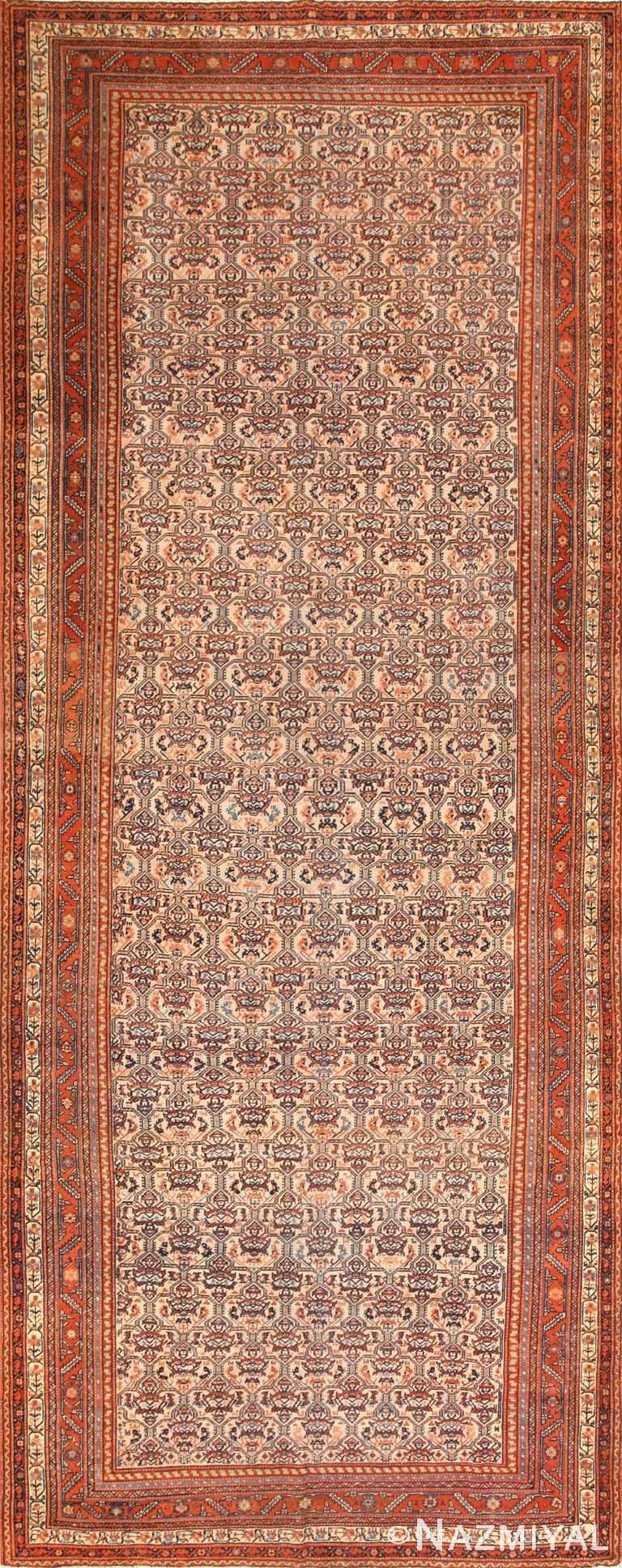 Antique Persian Farahan Runner Rug 50446 Nazmiyal
