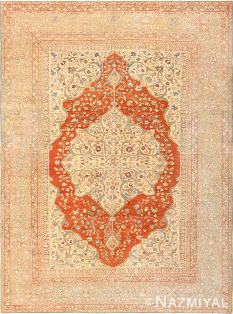 Antique Persian Medallion Tabriz Rug 48647 Nazmiyal