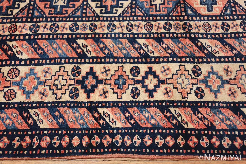 antique tribal caucasian rug 50479 border Nazmiyal