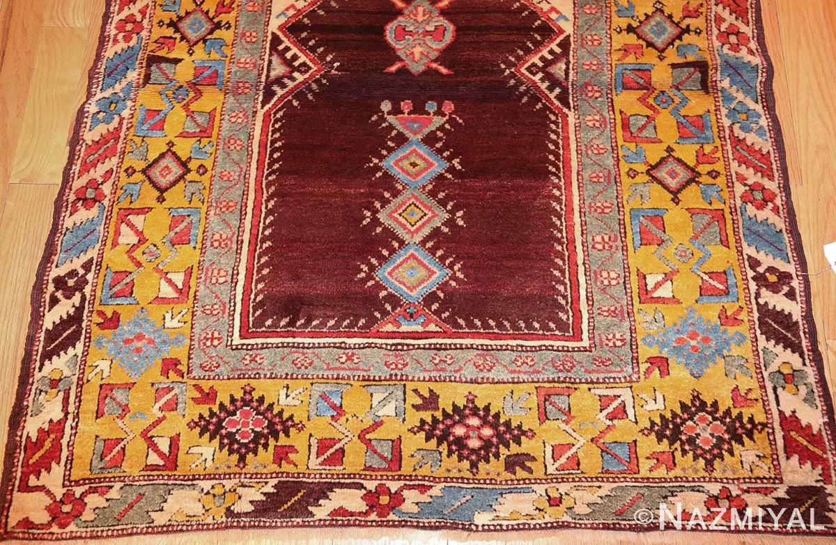 beautiful antique turkish bergama prayer rug 48722 bottom Nazmiyal