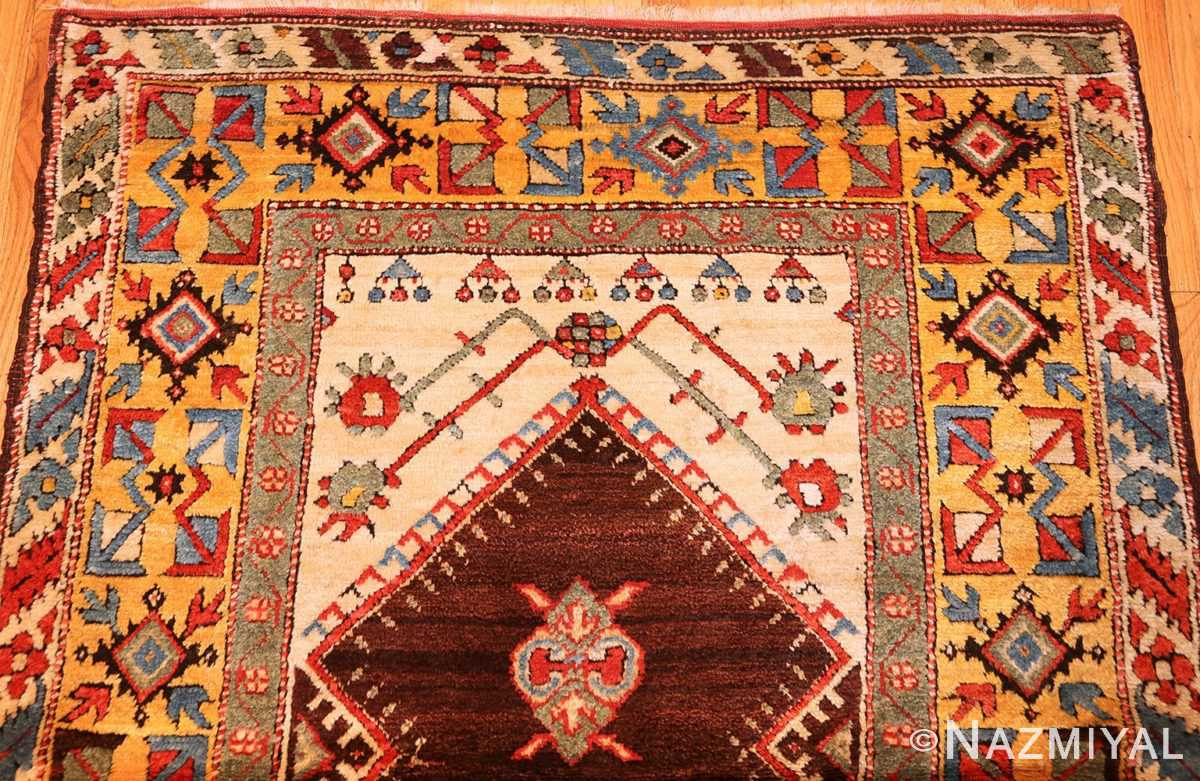 beautiful antique turkish bergama prayer rug 48722 top Nazmiyal