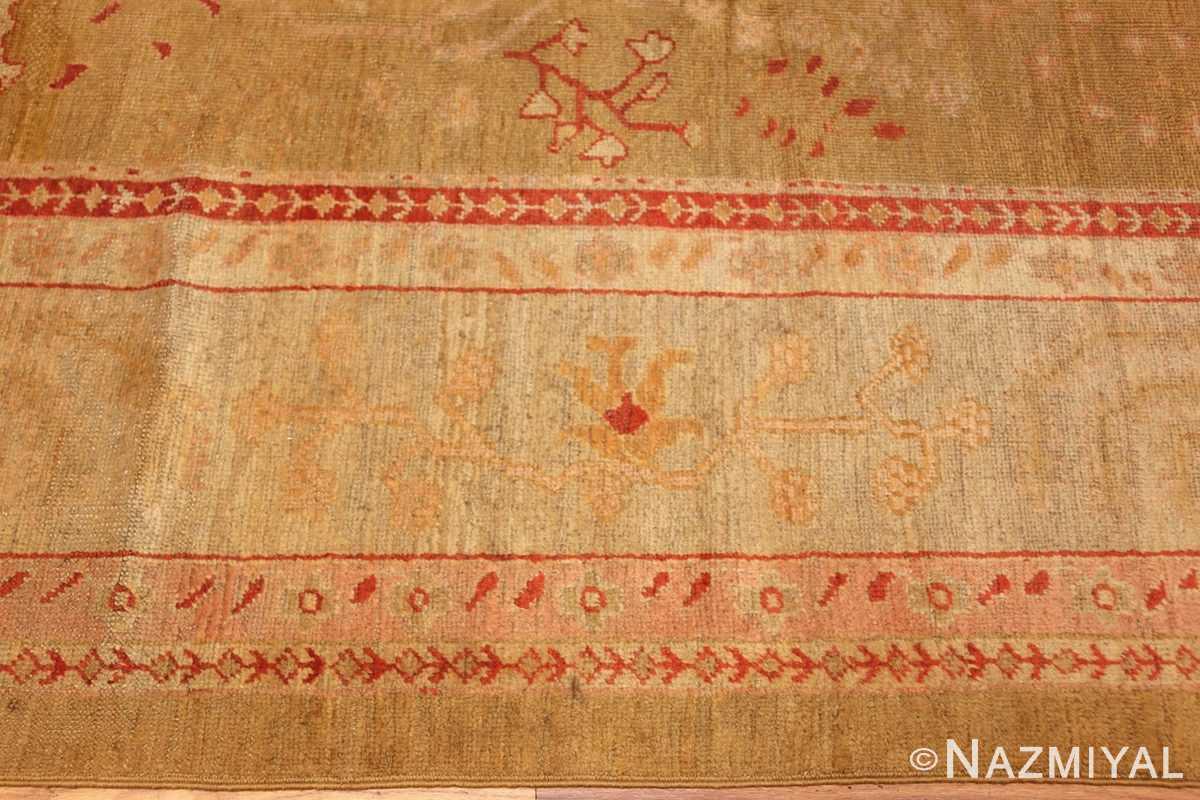 beautiful antique turkish oushak rug 47703 border Nazmiyal