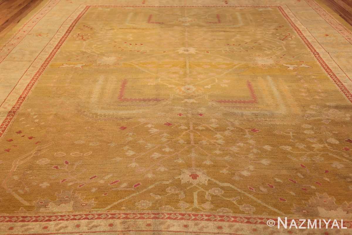 beautiful antique turkish oushak rug 47703 field Nazmiyal