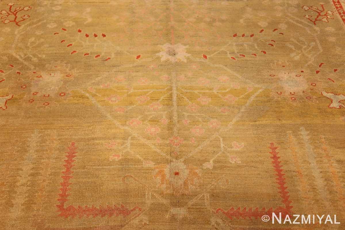 beautiful antique turkish oushak rug 47703 middle Nazmiyal
