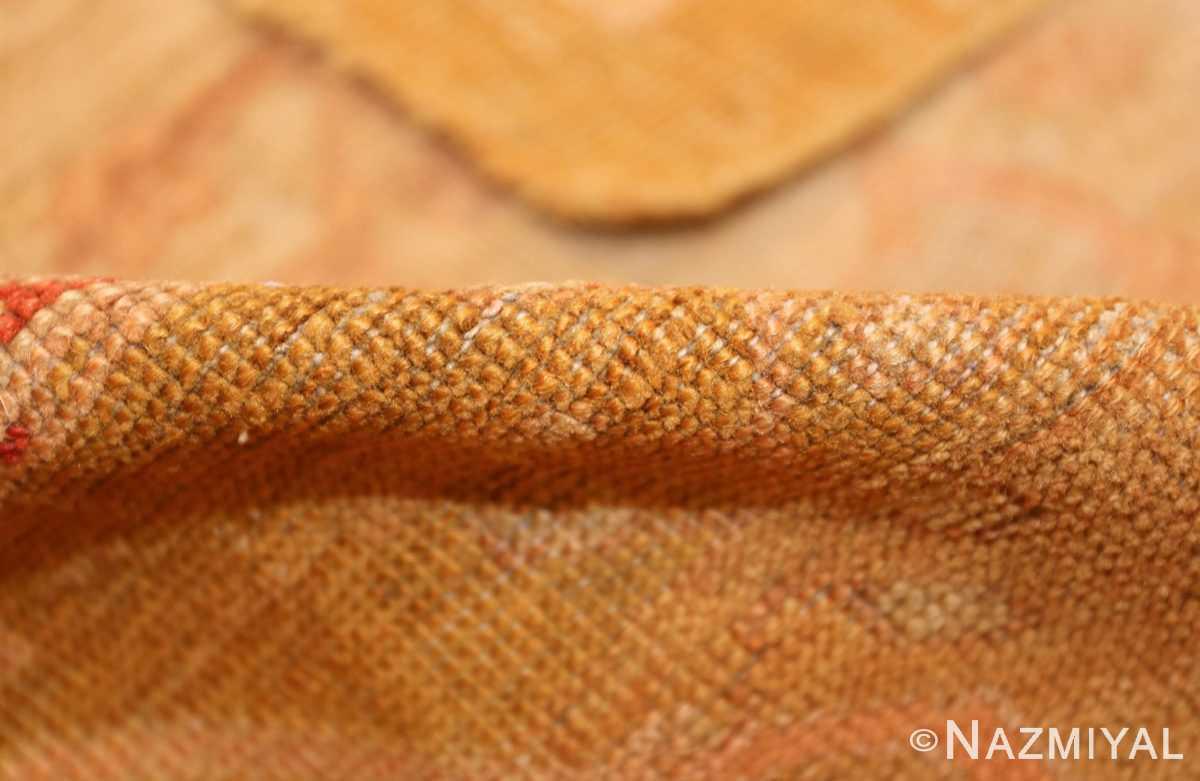 beautiful antique turkish oushak rug 47703 pile Nazmiyal
