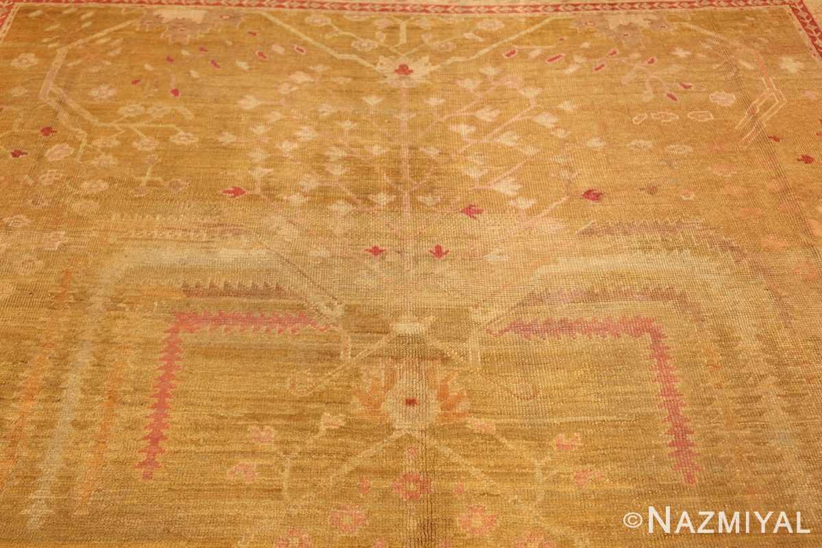 beautiful antique turkish oushak rug 47703 top Nazmiyal