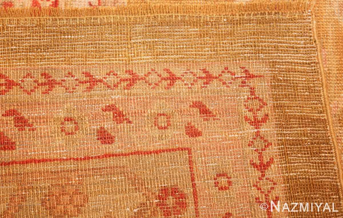beautiful antique turkish oushak rug 47703 weave Nazmiyal