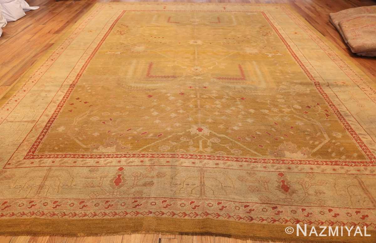 beautiful antique turkish oushak rug 47703 whole Nazmiyal